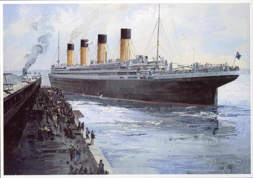 Титаник покидает Саутгемптон