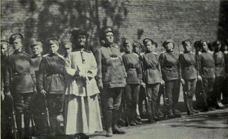 Мария Бочкарева, Эммелин Панкхёрст и солдаты Женского батальона