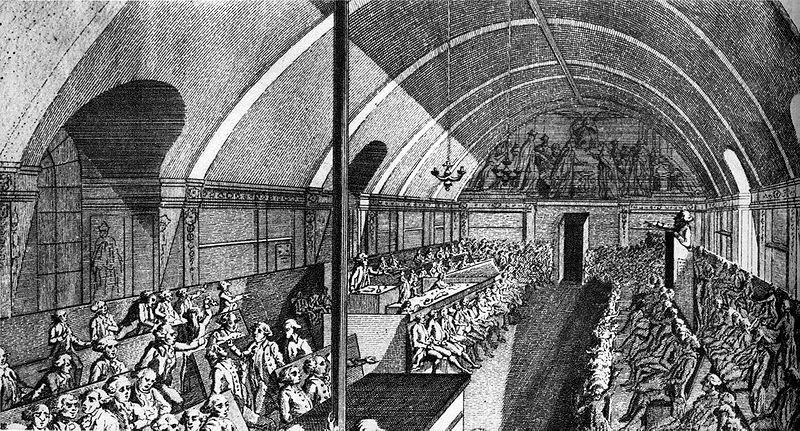Заседание якобинского клуба в 1791 году