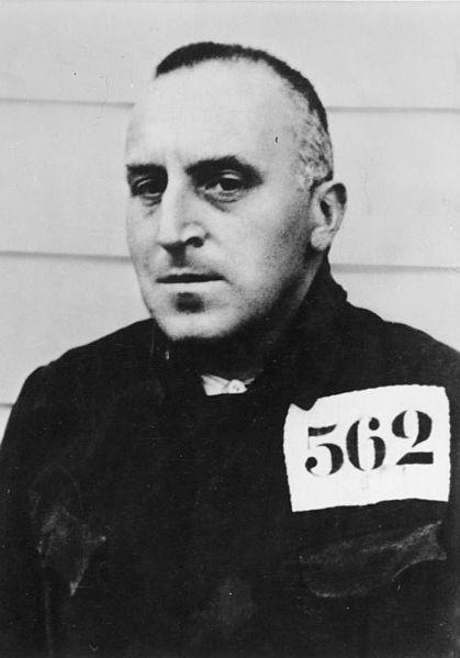 Карл фон Осецкий в концлагере (1933 г.)