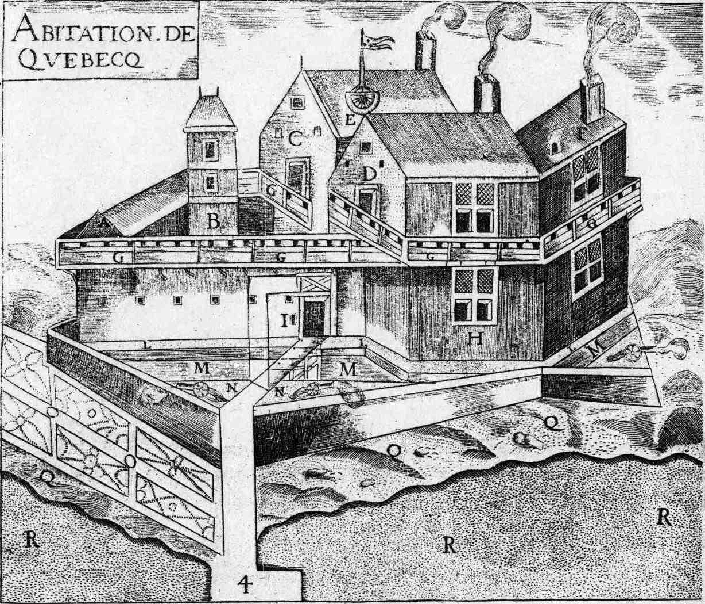 Квебек 1608 году