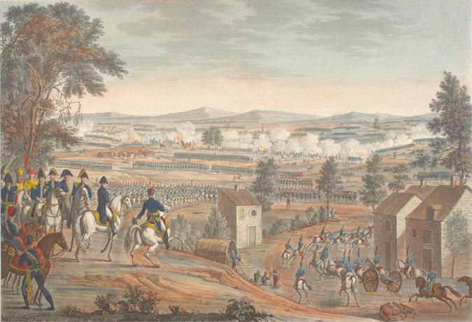 Наполеон наблюдает за сражением при Лютцене
