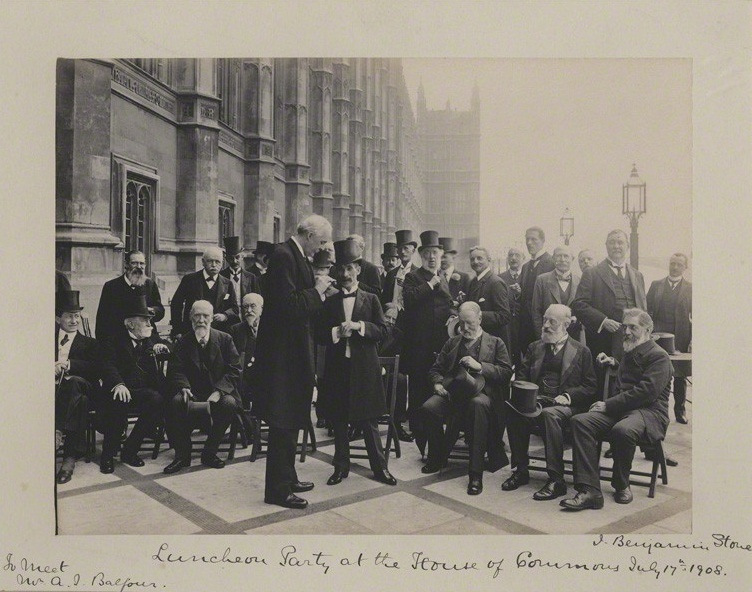 NPG x135568; 'Luncheon Party at the House of Commons' probably by Roland Parker Stone, for  Sir (John) Benjamin Stone