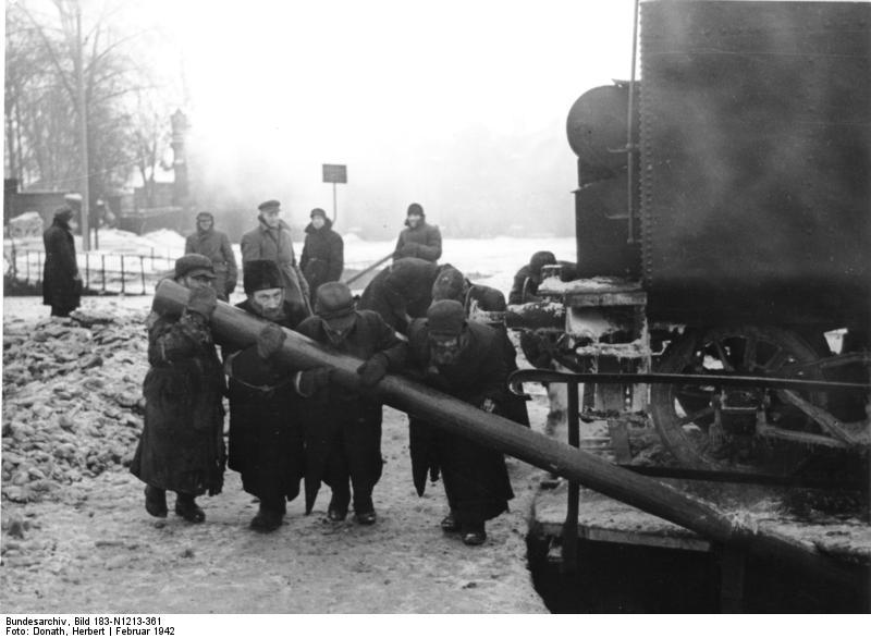 Minsk, Zwangsarbeit von Juden