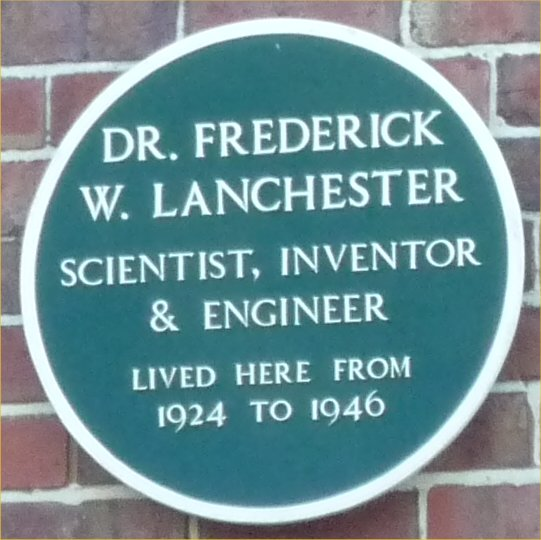Green_plaque_Frederick_W_Lanchester