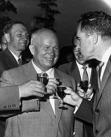 Khrushchev and Nixon Drinking Pepsi-Cola