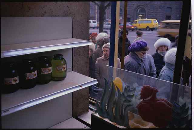Soviet People on Food Line