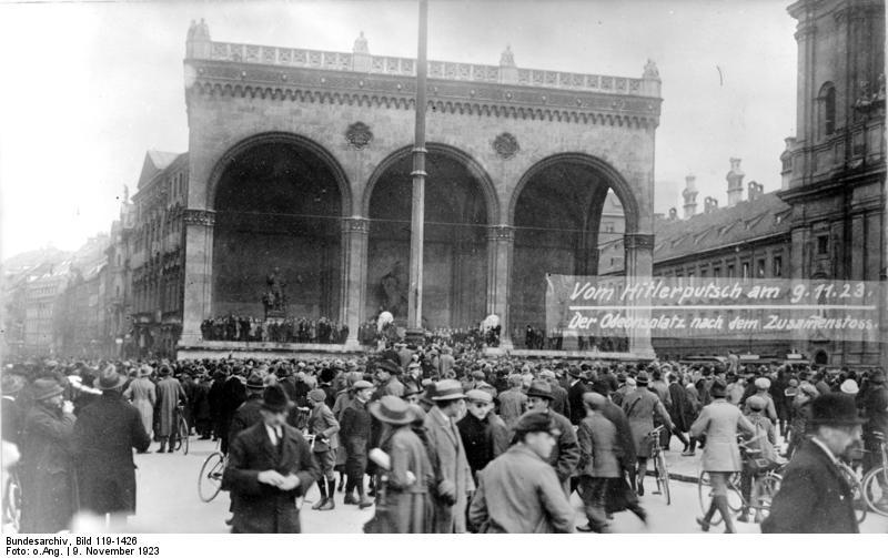 Hitler-Putsch, München, Odeonsplatz
