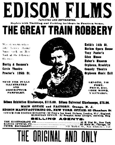 Фильм «Большое ограбление поезда» 1903 года.