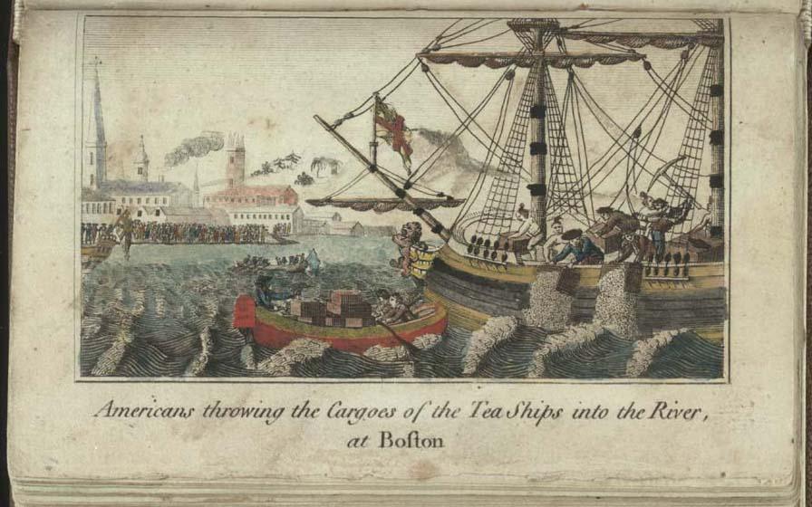 Бостонское чаепитие 1773 года.