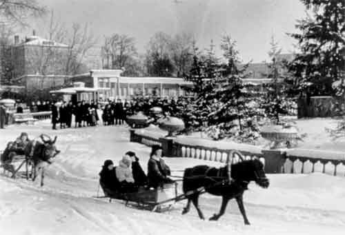 Круг катания в зоопарке. 1950-е годы