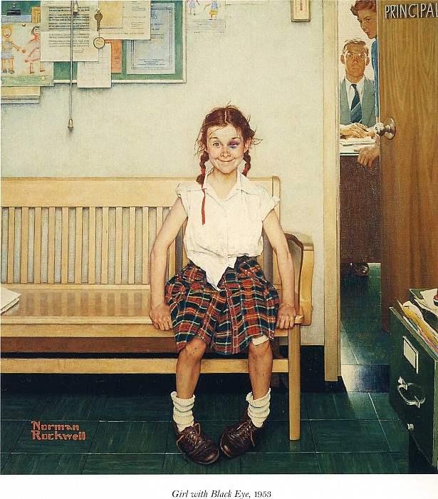 Американский художник Норман Роквелл и его картины, иллюстрации.