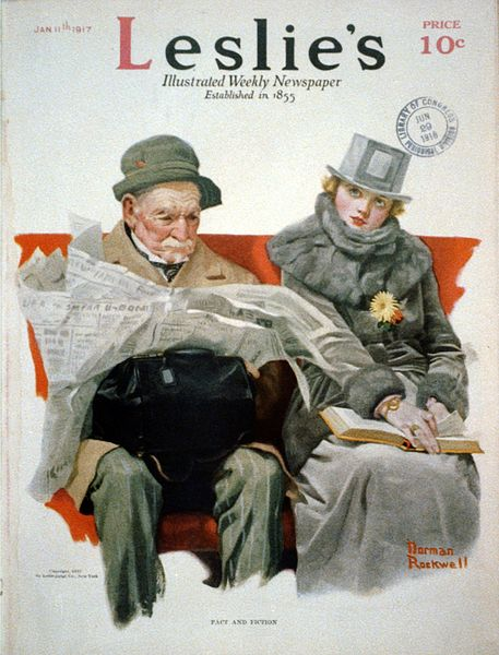 457px-Fact_&_Fiction_by_Norman_Rockwell_1917