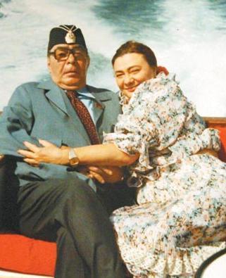 Галина Брежнева и Леонид Ильич